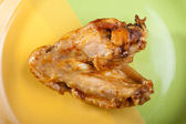 Roasted chicken wing — Stock Photo