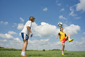 Teenager soccer — Stock Photo
