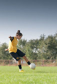 Women soccer — Stock Photo