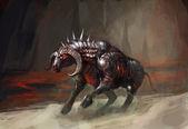 Armor knight bull — Stock Photo