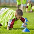 Boy on the sports field — Stock Photo
