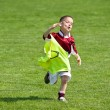 Royalty-Free Stock Photo: Happy boy on the soccer field