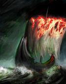 Burning sail — Stock Photo