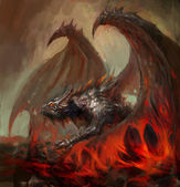 Lav dragon — Stok fotoğraf
