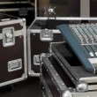 Stock Photo: Audio Mixing in flight case