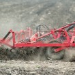 Stock Photo: Preparing soil in field