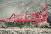 Preparing the soil in the field — Stock Photo