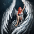Angel girl - Stock Photo