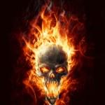 Burning skull — Stock Photo #9769278