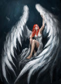Angel girl — Stock Photo