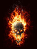 Burning skull — Stock Photo