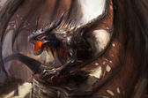 нападение дракона — Стоковое фото