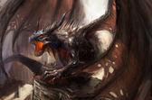 Dragon saldırı — Stok fotoğraf