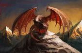 Montanha do dragão — Foto Stock