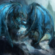 Stock Photo: Frost dragon