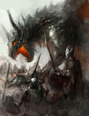 龙狩猎 — 图库照片