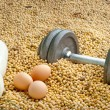 Stock Photo: Protein competition