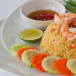 Thai food fried rice with shrimp — Stockfoto