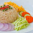 Shrimp paste friend rice - Stock Photo