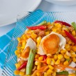 Thaifood, corn salad with salted egg spicy-sour dressing. — Stockfoto