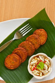 Thai spicy fried fish cake — Stock Photo