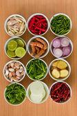 Ingredienti di cucina tailandese — Foto Stock