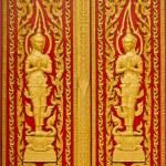 Door of Thai church. — Stock Photo