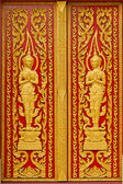 Door of Thai church. — Stock Photo