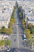Busy street in Paris — Stock Photo