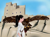 The falconer — Stock Vector