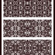 Monochrome seamless patterns. — Stock Vector
