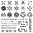 Stock Vector: Set of ornaments