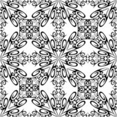 Monochrome seamless pattern. — Stock Vector