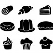 Set of sweets — Stock Vector