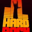 Stock Vector: Hard rock