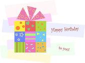 Stylish birthday present. — Stock Vector