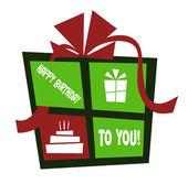 Doğum günü hediyesi — Stok Vektör
