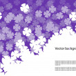 Fading flowers — Stock Vector