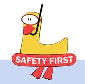 Bezpečnost první — Stock vektor
