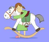 игрушка лошадь — Cтоковый вектор