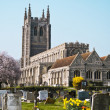 Old church with graveyard England - Stock Photo