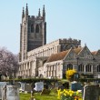 Old church with graveyard England — Stock Photo #10195775