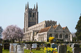 Old church with graveyard England — Stockfoto