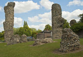 Bury st. Edmunds -Abbey Garden Ruins — Stockfoto