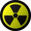 Nuclear warning symbol illustration - Stock Vector