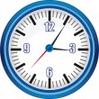 Analog clock vector Illustration - Stock Vector