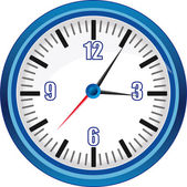 Analog clock vector Illustration — Stockvektor