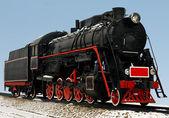 Vintage steam train — Stock Photo