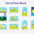 Post mark — Stock Vector