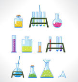 Chemical laboratory. — Stock Vector